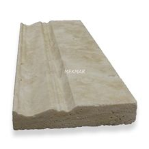 Baseboard White Travertine Molding, Border