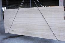Travertino Bianco Navona Tiles & Slabs, White Polished Travertine Flooring Tiles, Walling Tiles