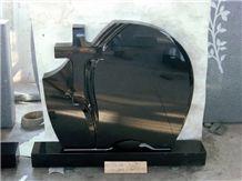 Granite Gravestone and Headstone, Black Granite Gravestone