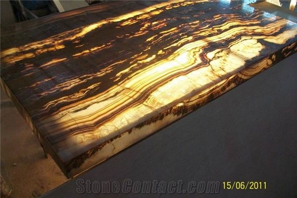 Tiger Vein Onyx Glass Countertop From China Stonecontact Com