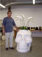 Garden Marble Flowerpot, White Marble Pot