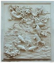Wall Relief Marble, Beige Sandstone Wall Relief