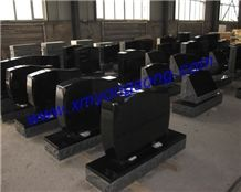 Granite Headstone, Shanxi Black, Bahama Blue, G663