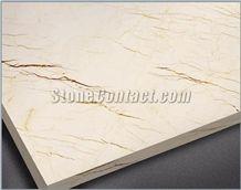 Polished Crema Luna Limestone Tile