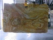 Polished Juparana Golden River Granite Slab(good P