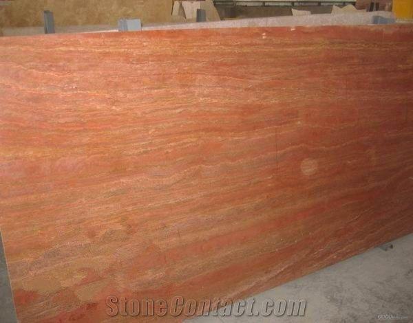 Polished Orange Travertine Slab Good Price From China