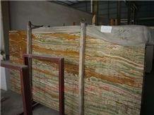 Polished Wood Grain Onyx Slab(good Polished)
