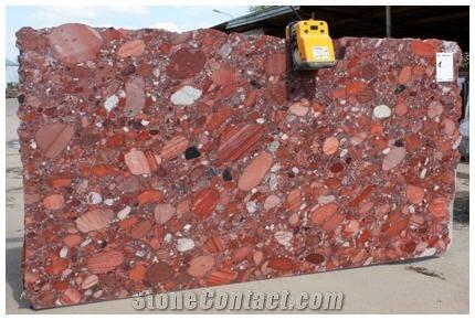 Rosso Marinace Red Granite Slabs Brazil
