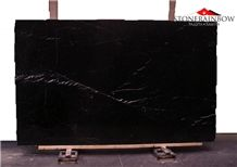 Nero Marquina Marble Slabs, Spain Black Marble