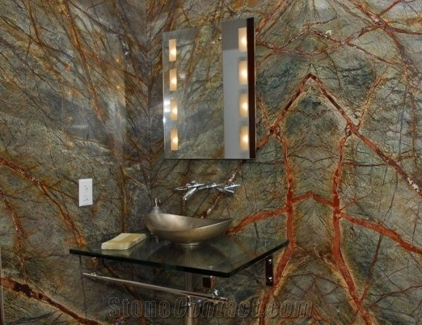 Rainforest Green Marble Bath Design From Russian