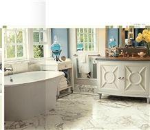 Arabescato Marble Floor Tiles, Italy White Marble