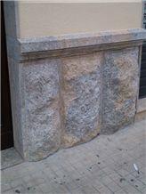 Rustic Wall Cladding, Nerello Di Custonaci Grey Trachyte Mushroom Stone