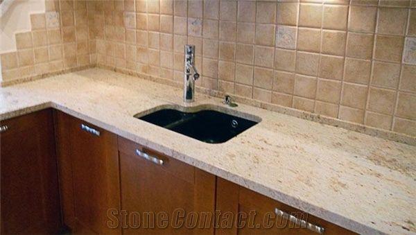 Colonial Cream Granite Kitchen Countertop Yellow Granite