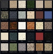 DuPont Zodiaq Colors
