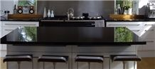 Absolute Black Granite Kitchen Tops, Nero Assoluto India Black Granite