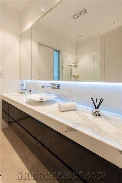 Calacatta Marble Bathroom Tops Calacatta Pearl White