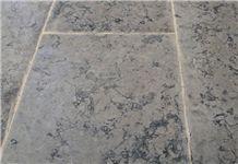 Jerusalem Grey Stone Brushed Floor Tiles, Limestone