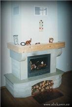 Fireplace, Ungru Beige Limestone