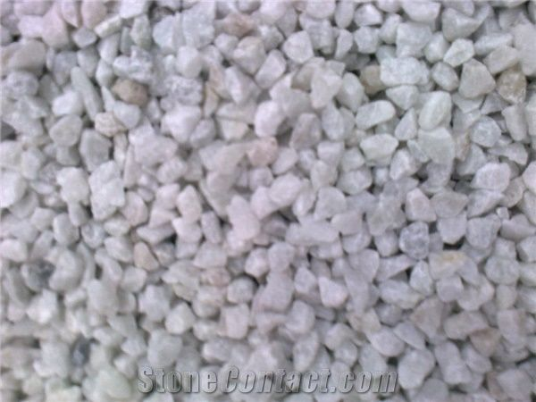White Marble Chips 9 14 Mm Crazy White Marble Pebble