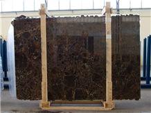 Dark Emperador Gold Marble Slabs, Spain Brown Marble