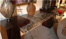 Dark Emperador Marble Furniture, Brown Marble
