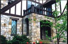Exterior Charm with Stone Veneers, Beige Sandstone Veneers