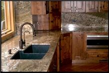Juparana Persa Granite Kitchen Countertops, Yellow Granite