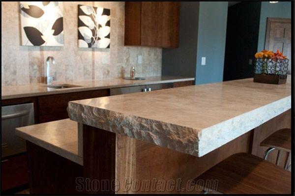 Beau Limestone Kitchen Countertop, Tuscano Clasico Beige Limestone