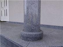 Pohorski Tonalit Granite Column, Grey Granite
