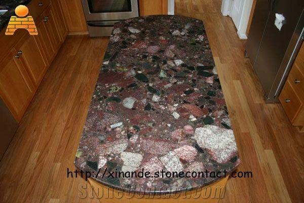 Custom Work Tops Red Marinace Granite