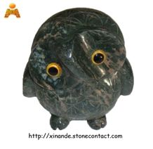 Little Owl Statue, Stone Home Decoration