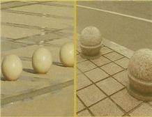 White Granite Parking Stone