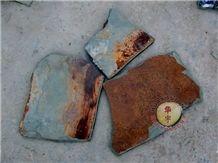 Yixian Multicolor Slate Flagstone Paving