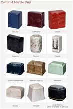 Cultured Marble Cremation Urns