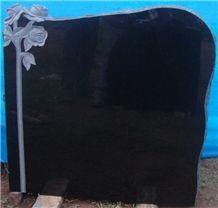 Absolute Black Granite Memorials, Grave Stone, Black India Granite Monument
