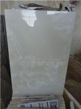 Pure White Onyx, Pakistan White Onyx Slabs