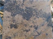 Rusty Manchu Caviar Brown Limestone Tiles