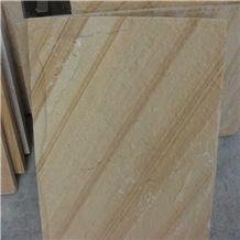 China Yellow Wood Sandstone Tile