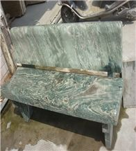 Green Marble Bench