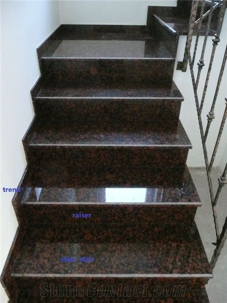 Tan Brown Granite Steps From China Stonecontact Com