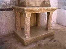 Granite Fireplace Mantel, Campanario Yellow Granite