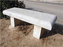 Grey Quintana Granite Bench, Amanecer White Granite