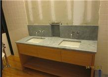 Soapstone Vanity Countertops, Barroca Grey Soapstone Bath Tops