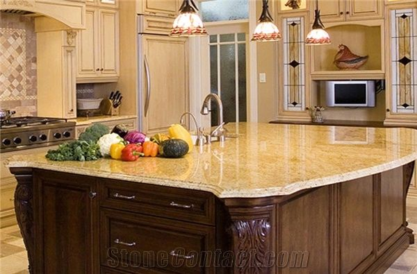 Kashmir gold granite countertops pictures roselawnlutheran for Kitchen designs in kashmir