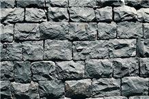 Black Basalt Mushroomed Wall Stone