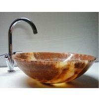Round Brown Onyx Sink