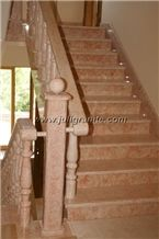 Red Marble Steps