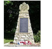 War Memorials, White Granite Monument, Tombstone
