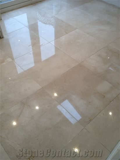 Diamond Grinded And Polished Marble Floor Botticino Classico
