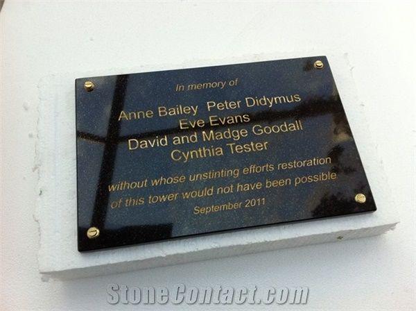 Absolute Black Granite Memorial Plaques From United Kingdom Stonecontact Com
